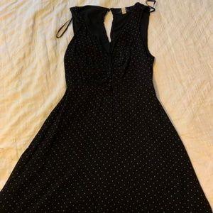 Francesca's Black Polka Dot Sleeveless Dress